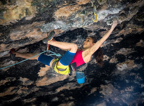 "Laura Rogora: ""Pure dreaming 9a, Pure dreaming plus 9a+, The bomb 9a, Ali Hulk sit extension total 9b""."