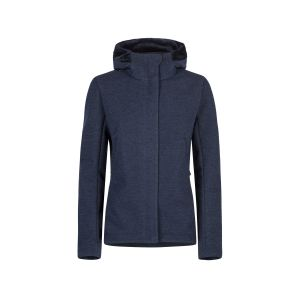 TECHNO WOOL HOODY JACKET WOMAN
